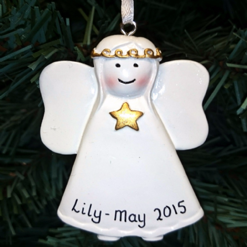 Personalised Angel with Gold Star